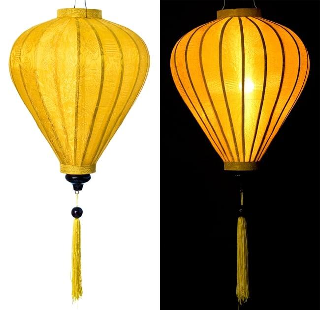 ベトナム伝統のホイアン・ランタン(提灯) - ほおずき型(大) 11 - 選択1:黄