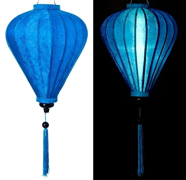 ベトナム伝統のホイアン・ランタン(提灯) - ほおずき型(大) 13 - 選択3:青