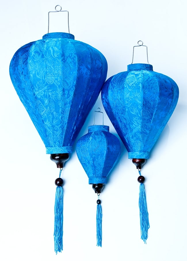 ベトナム伝統のホイアン・ランタン(提灯) - ほおずき型(大) 9 - 大・中・小の3サイズご用意しています。