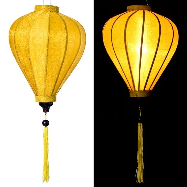 ベトナム伝統のホイアン・ランタン(提灯) - ほおずき型(中) 11 - 選択1:黄