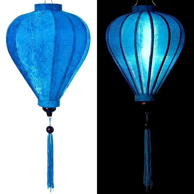 ベトナム伝統のホイアン・ランタン(提灯) - ほおずき型(中) 13 - 選択3:青
