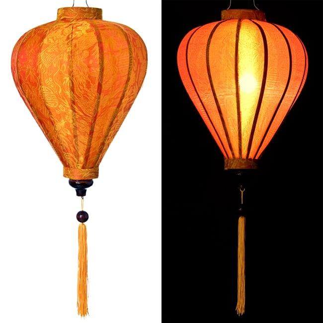 ベトナム伝統のホイアン・ランタン(提灯) - ほおずき型(中) 15 - 選択5:橙