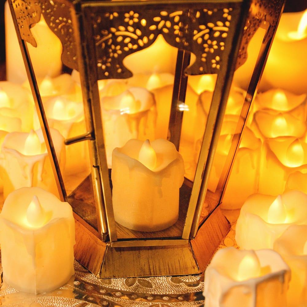 〔24個セット〕ゆらめく灯火 ロウソク風LEDキャンドルライト〔4.7cm×4cm〕 10 - 別売りのキャンドルホルダーなどに入れると、より雰囲気が出ます。