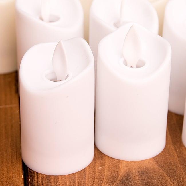 〔12個セット〕ゆらめく灯火 ロウソク風LEDキャンドルライト〔7cm×4.2cm〕 6 - 上部の部分が動き、炎が揺らいだような雰囲気になります。