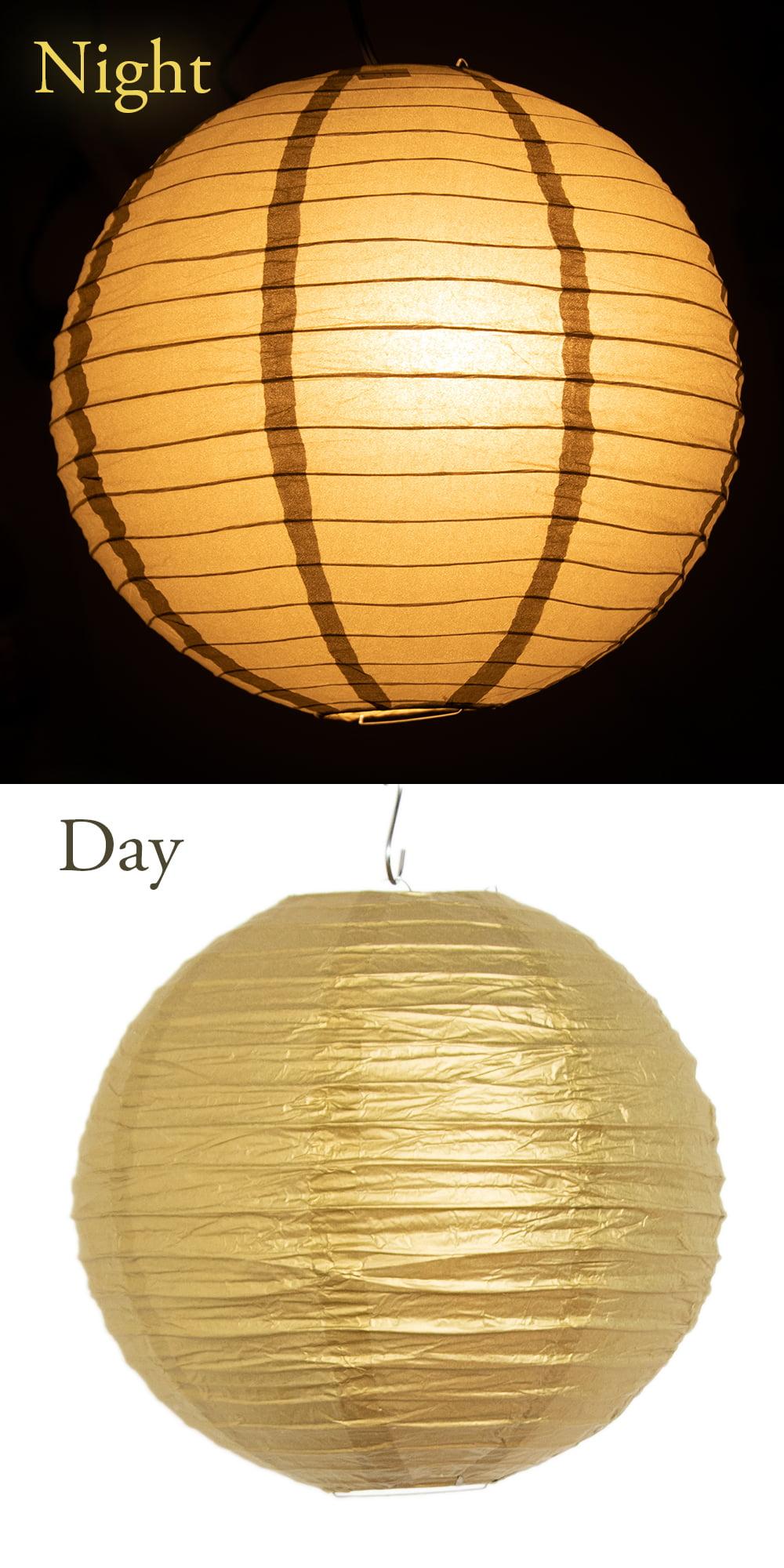 【8色展開】ベトナムのカラフル提灯・ランタン - 丸型 直径30cm 12 - 趣がありますね。
