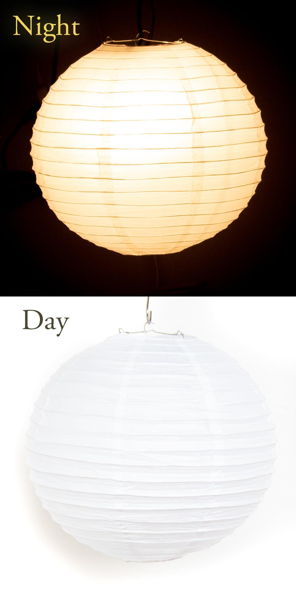 【8色展開】ベトナムのカラフル提灯・ランタン - 丸型 直径30cm 15 - これくらいのサイズ感になります。