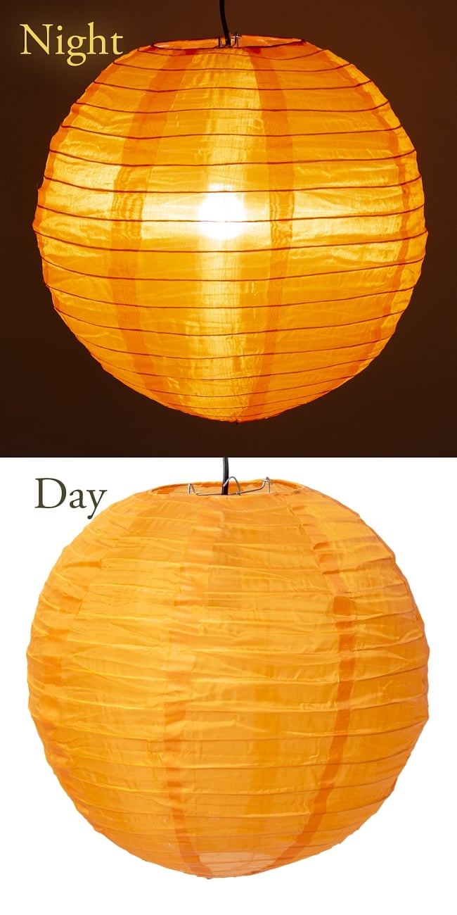 【8色展開】ベトナムのカラフル提灯・ランタン - 丸型 7 - 6:オレンジ