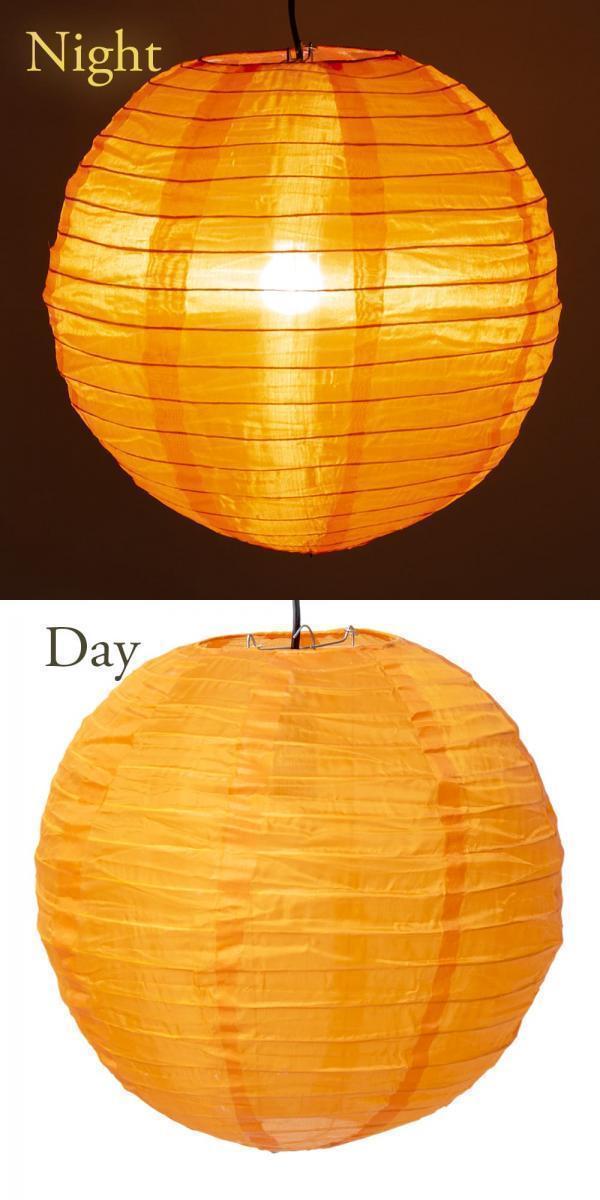 【8色展開】ベトナムのカラフル提灯・ランタン - 丸型 直径30cm 7 - 6:オレンジ