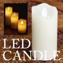 本物のロウで作られた ゆらめく灯火 ロウソク風LEDキャンドルライト〔5cm×7cm〕