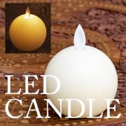 本物のロウで作られた ゆらめく灯火 ロウソク風LEDキャンドルライト  〔7cm×8.5cm〕