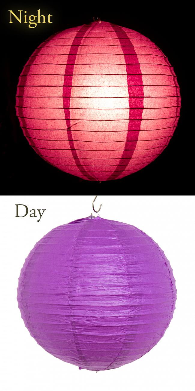 【15色展開】ベトナムのカラフル提灯・ランタン - 丸型 直径40cm 10 - 9:パープル