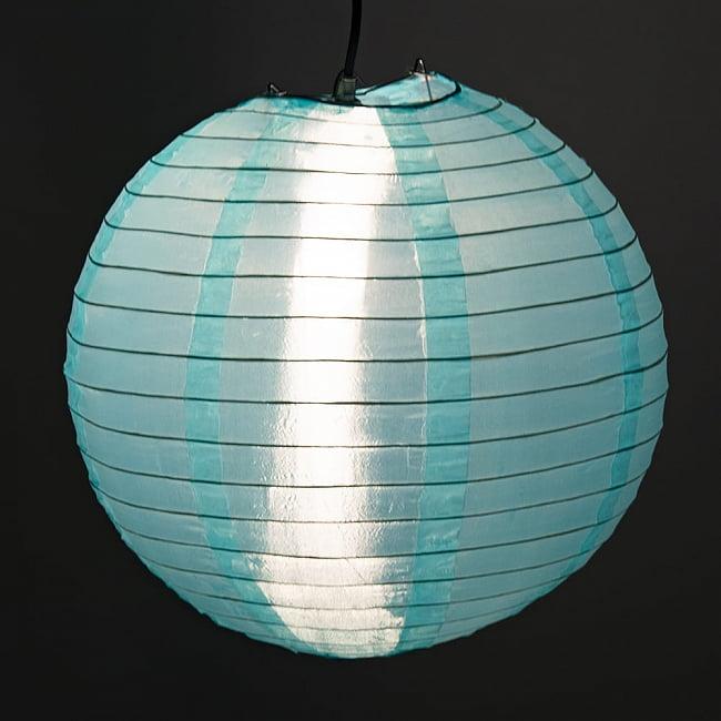 【15色展開】ベトナムのカラフル提灯・ランタン - 丸型 直径40cm 17 - 丸いフォルムは点灯していなくでも可愛らしいです。