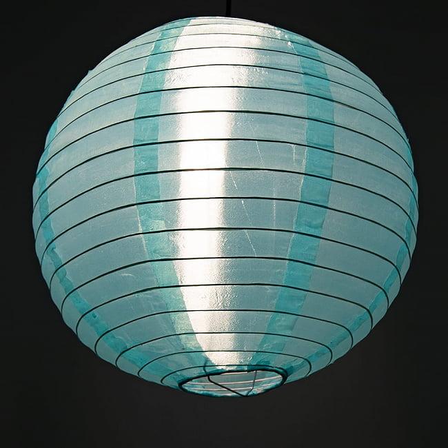 【15色展開】ベトナムのカラフル提灯・ランタン - 丸型 直径40cm 19 - 趣がありますね。