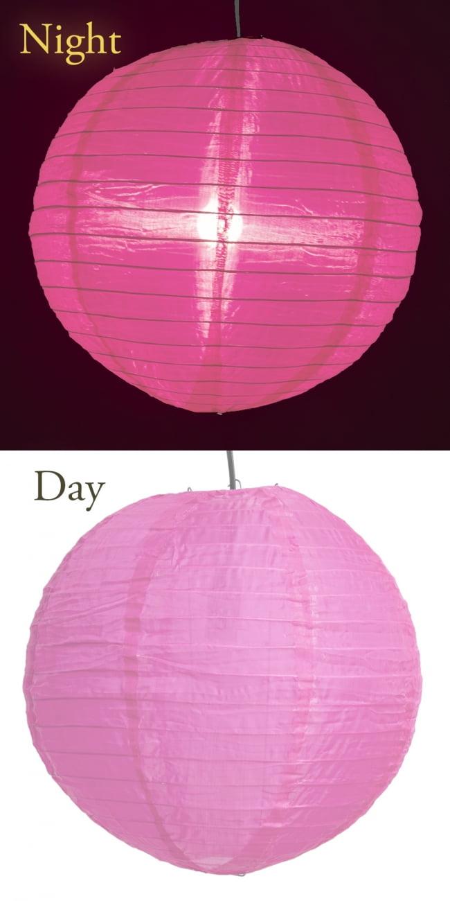 【15色展開】ベトナムのカラフル提灯・ランタン - 丸型 直径40cm 6 - 5:ピンク