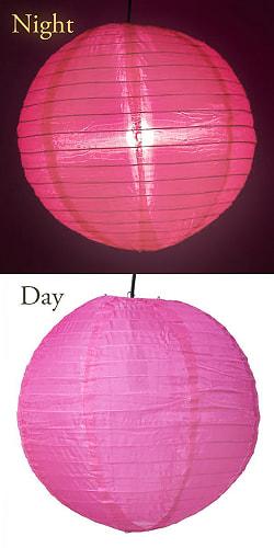 【15色展開】ベトナムのカラフル提灯・ランタン - 丸型 直径40cm 8 - 7:マゼンタ