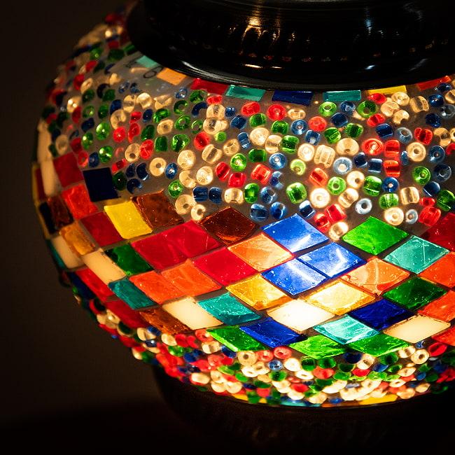 モザイクガラスのアラビアンランプ - 床置 5 - 使っているうちにいい味が出てきそうなランプです