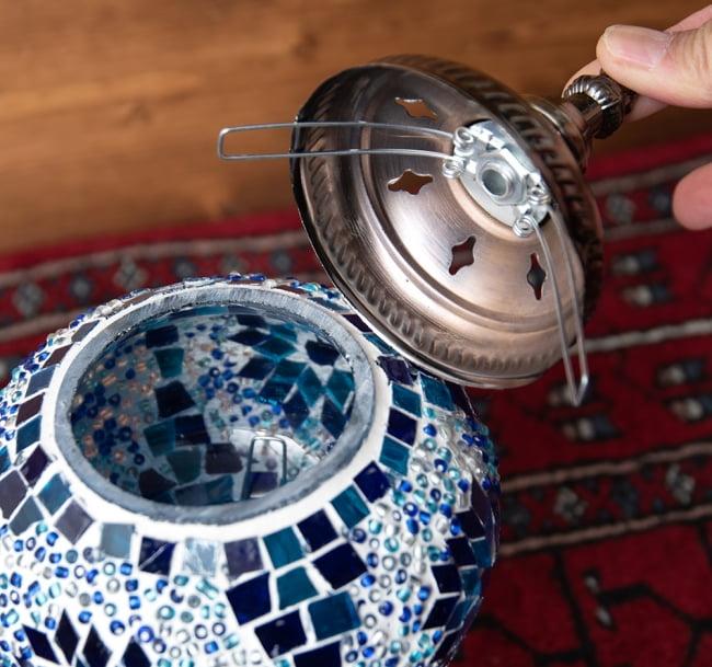 モザイクガラスのアラビアンランプ - 床置 7 - 上部を取ってみました