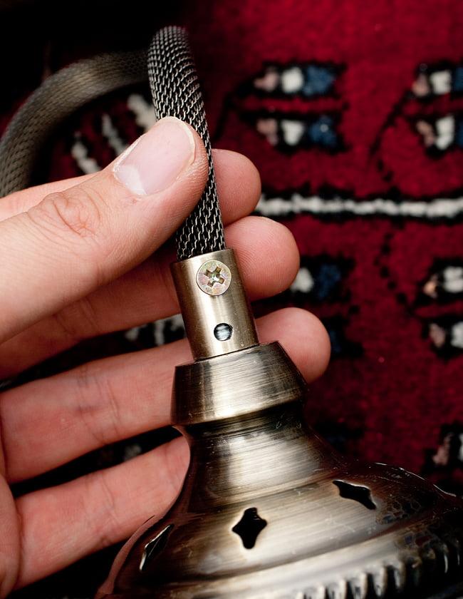 モザイクガラスのアラビアンランプ モザイクランプ - 吊り下げ型〔ソケット配線付属なしタイプ〕 11 - チェーンの根本を固定するためのネジです。