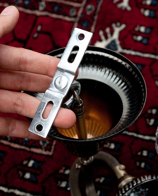 モザイクガラスのアラビアンランプ モザイクランプ - 吊り下げ型〔ソケット配線付属なしタイプ〕 14 - 天井に固定する際の金具も入っております