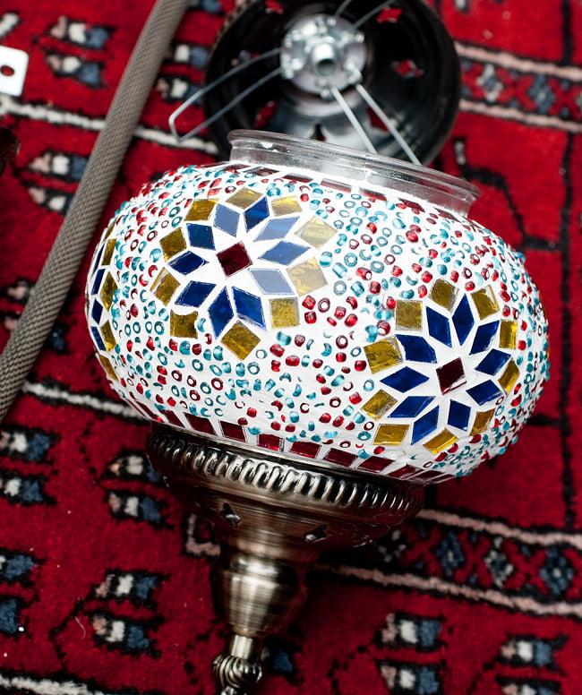 モザイクガラスのアラビアンランプ モザイクランプ - 吊り下げ型〔ソケット配線付属なしタイプ〕 8 - ランプ拡大写真です