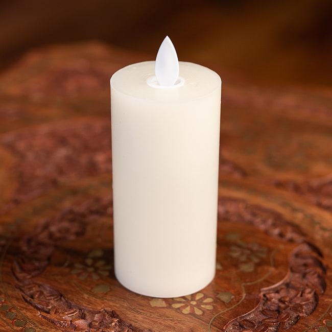 本物のロウで作られた ゆらめく灯火 ロウソク風LEDキャンドルライト レインボー〔5cm×10cm〕 4 - リアルな質感を求め、周囲の部分は本物のロウで作られています。