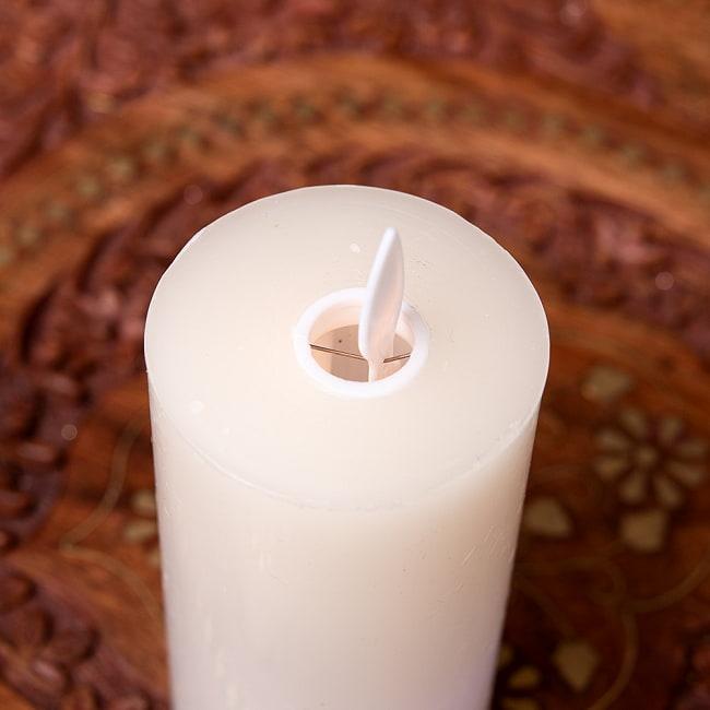 本物のロウで作られた ゆらめく灯火 ロウソク風LEDキャンドルライト レインボー〔5cm×10cm〕 5 - 上部の写真です