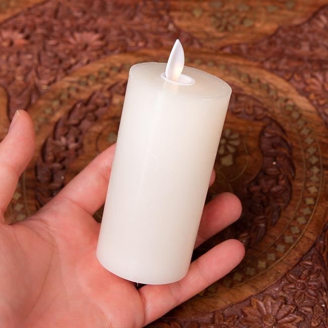 本物のロウで作られた ゆらめく灯火 ロウソク風LEDキャンドルライト レインボー〔5cm×10cm〕 8 - 裏面になります