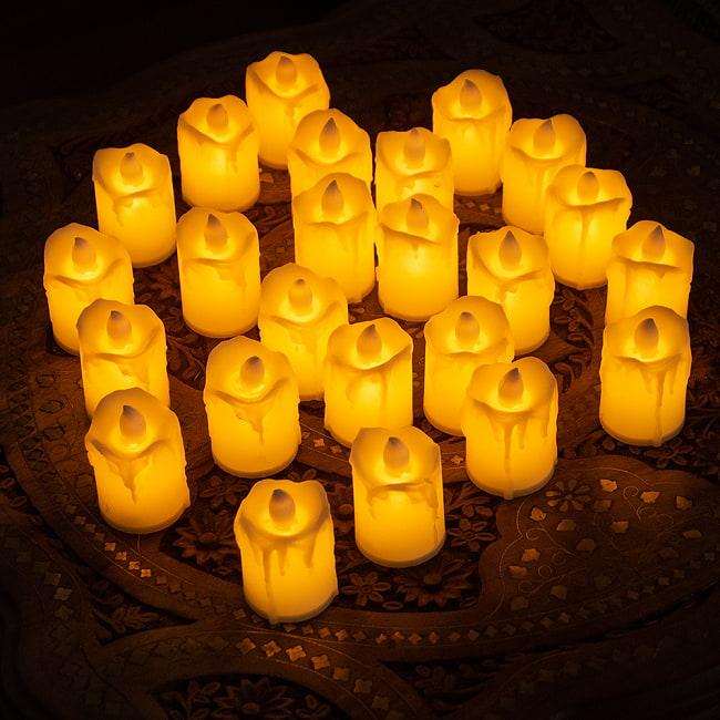 〔24個セット〕 ロウソク型LEDキャンドルライト〔4.7cm×4cm〕 2 - 24個入です。