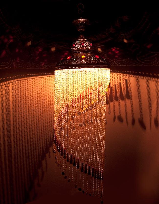 吊り下げタイプ - シャンデリア型ハーレムランプ【130cm】の写真