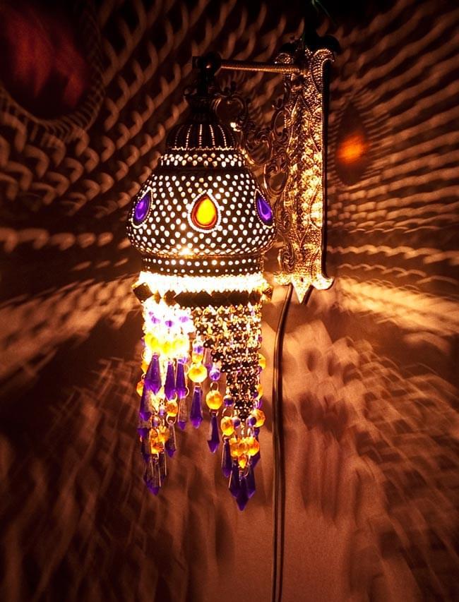 壁掛 - クラゲ風ハーレムランプ【50cm】の写真