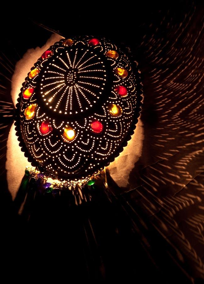 壁掛 - 卵型ハーレムランプ【33cm】の写真