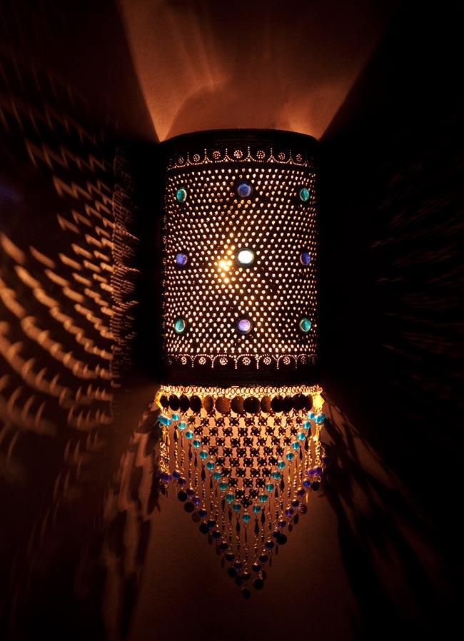 壁掛 - 角形ハーレムランプ【55cm】の写真