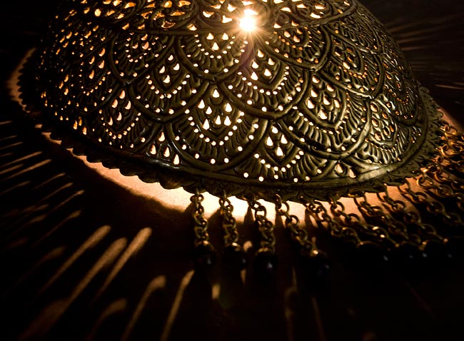 壁掛 - 卵型ハーレムランプ【33cm】の写真2 -