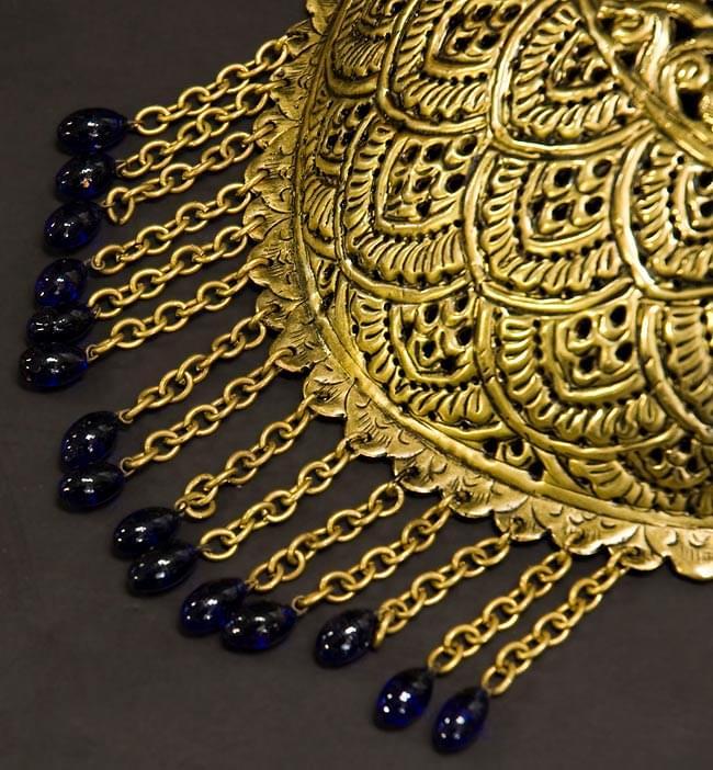 壁掛 - 卵型ハーレムランプ【33cm】の写真5 - 装飾玉のお色を在庫別一覧よりお選びください。
