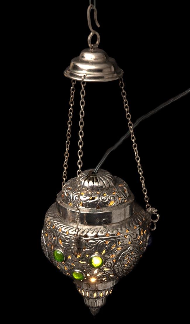 アラビアンナイト風ハーレムランプ-銀色【45cm】の写真