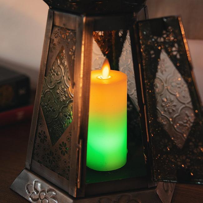 【10個セット】本物のロウで作られた ゆらめく灯火 ロウソク風LEDキャンドルライト レインボー〔5cm×10cm〕 3 - 別売りのキャンドルホルダーなどへ入れても雰囲気が出ます