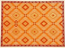 インドのメッセージカードセット - PhulKari(Orange)(ID-LETTER-118)