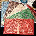 インドの封筒 - 木と唐草模様-RITI-