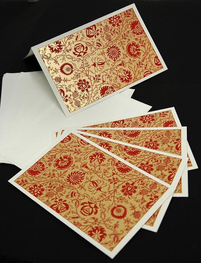 インドのメッセージカードセット - Bakul(赤) 2 -