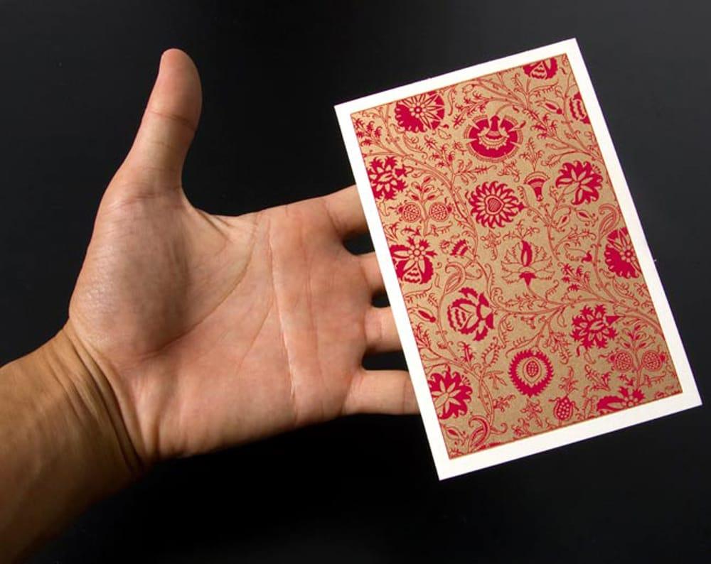 インドのメッセージカードセット - Bakul(赤) 3 -