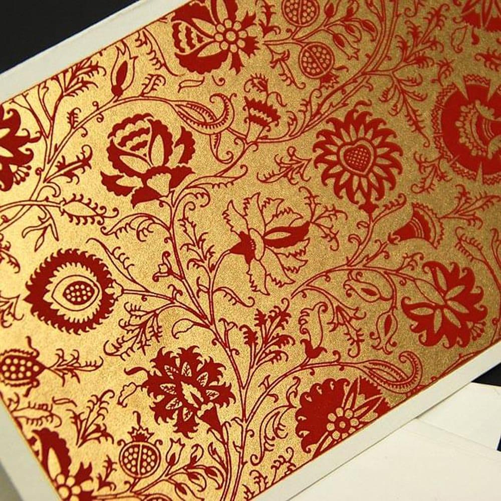 インドのメッセージカードセット - Bakul(赤)の写真