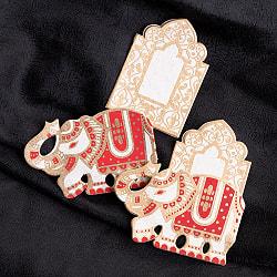 インドのギフトタグ 【象】(ID-LETTER-143)