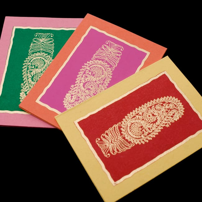 インドのギフトタグ - ペイズリー 2 - カードを拡大して見ました。