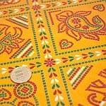 インド伝統のラッピング用紙 - 黄色(5枚セット)