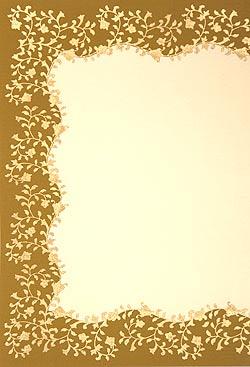 インドのレターセット - CHANDRAJA【黄土色】(ID-LETTER-178)