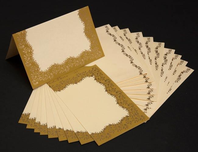 インドのレターセット - CHANDRAJA【黄土色】の写真2 - 10枚セットでお得です