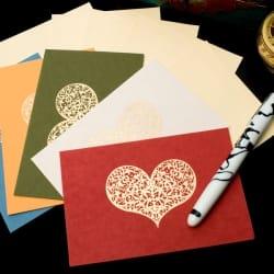 インドのメッセージカードセット - Bhavana(P)(ID-LETTER-2)