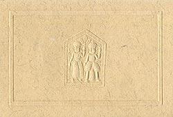 インドのメッセージカードセット - YUGMA[肌色](ID-LETTER-211)