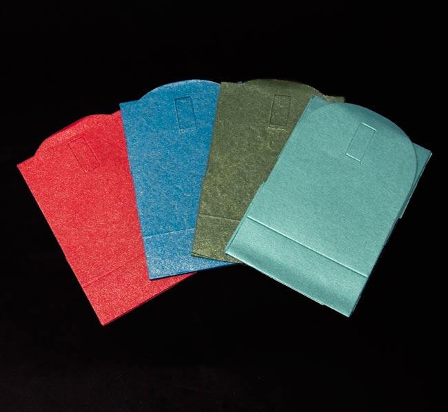 インドのラッピングボックスの写真3 - お色はこちらからお選びください。