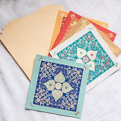 インドのメッセージカードセット - PALLAVI(ID-LETTER-286)